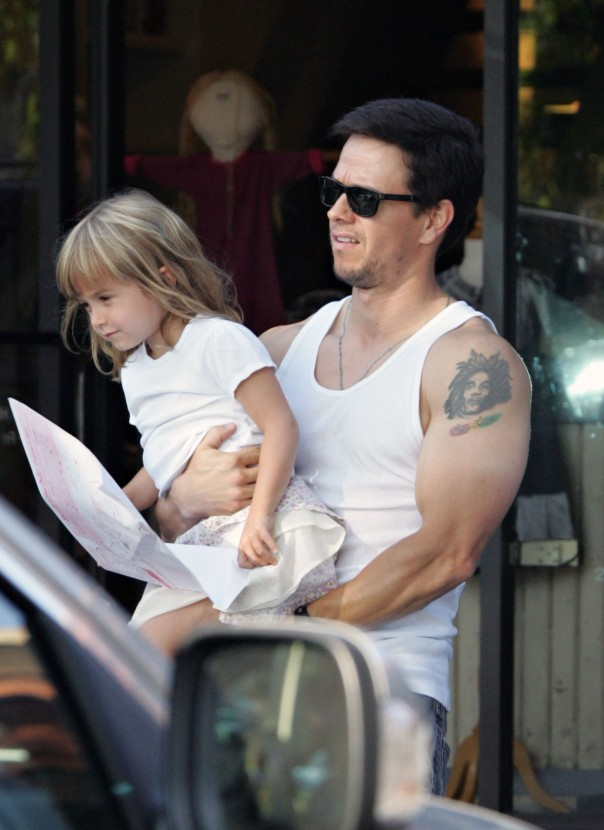 Exclusive... Exclusive...Mark Wahlberg Is A Doting Dad!